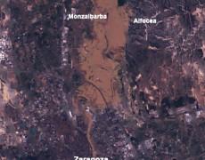 Inundaciones del Ebro, marzo de 2015. Imagen de satelite.